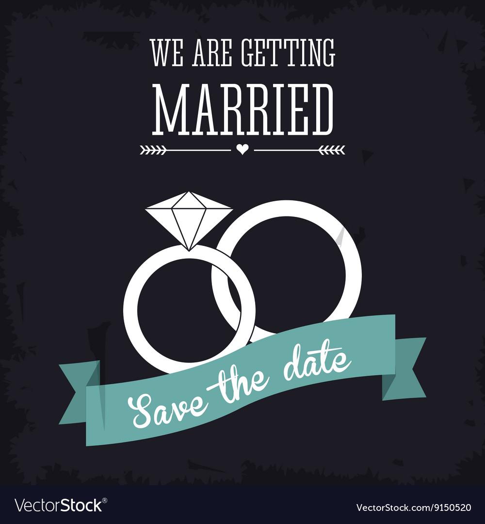 Married design Wedding icon Flat