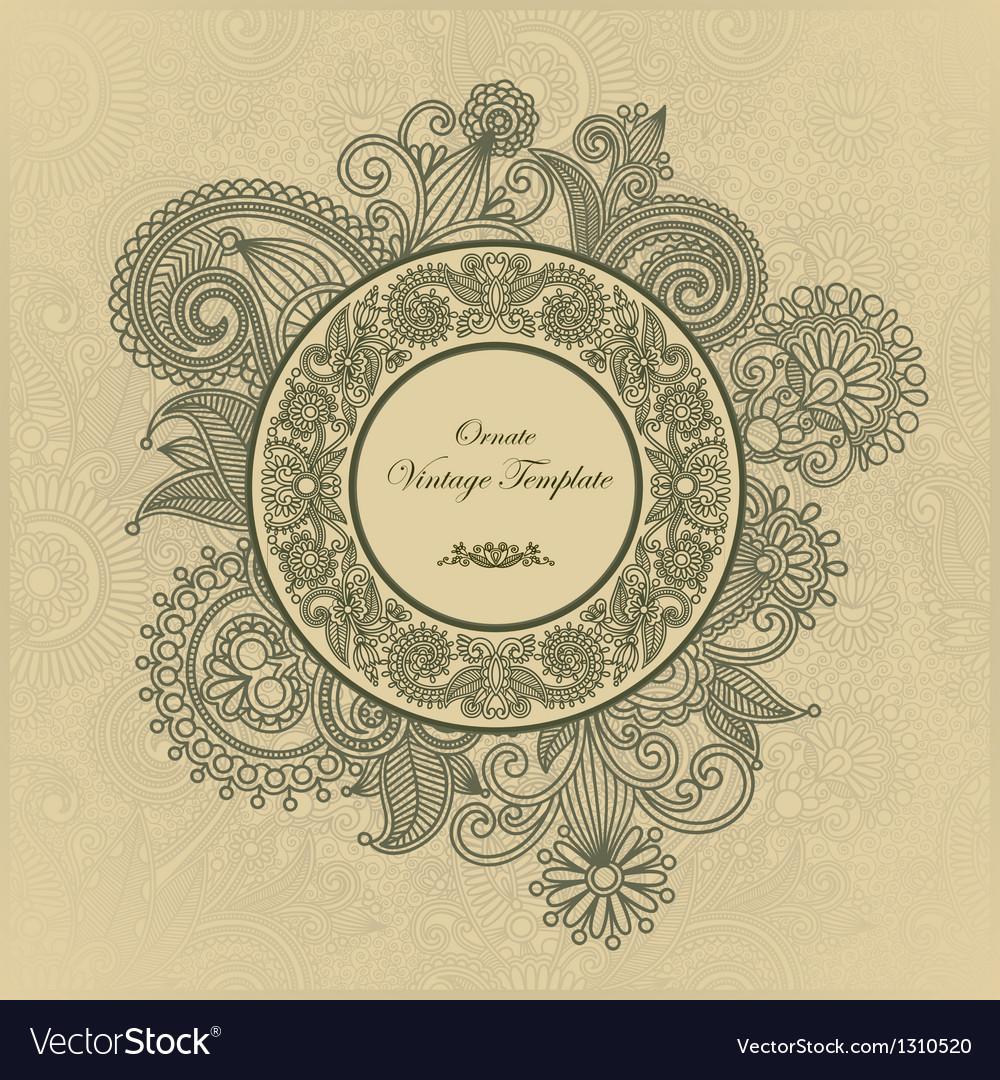Ornate floral vintage template