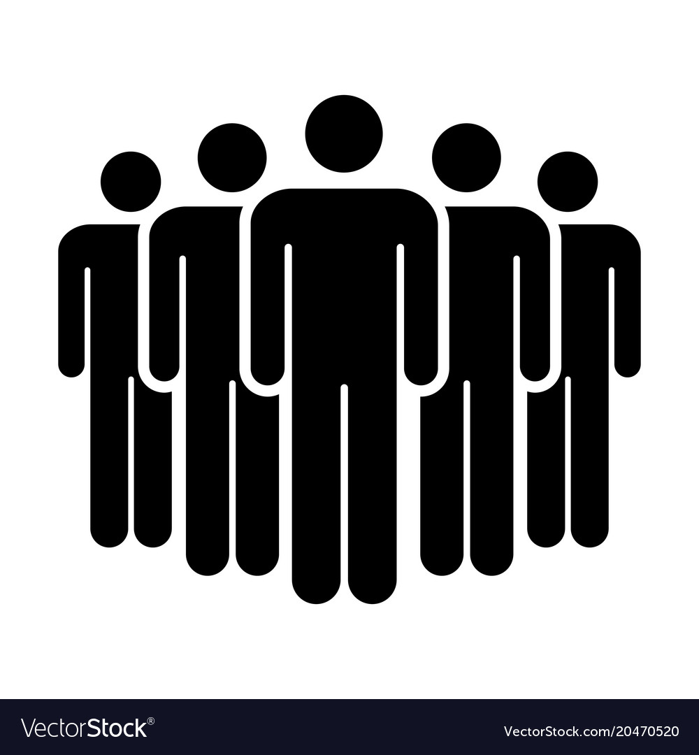 People Icon Group Of Men Team Symbol For Business Vector Image