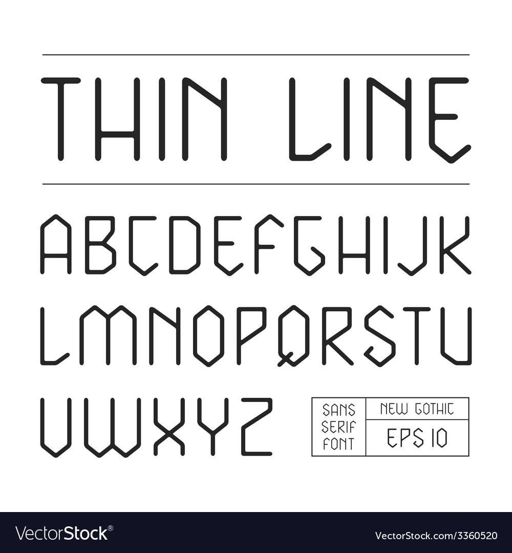 Sans serif lineales geometric font