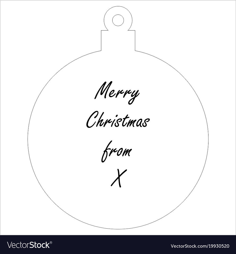 Simple christmas tree ornament for laser cutting vector image