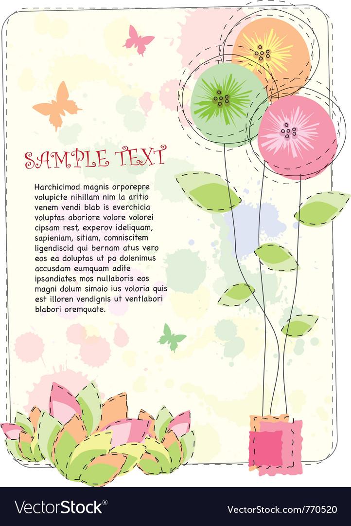 Summer floral background