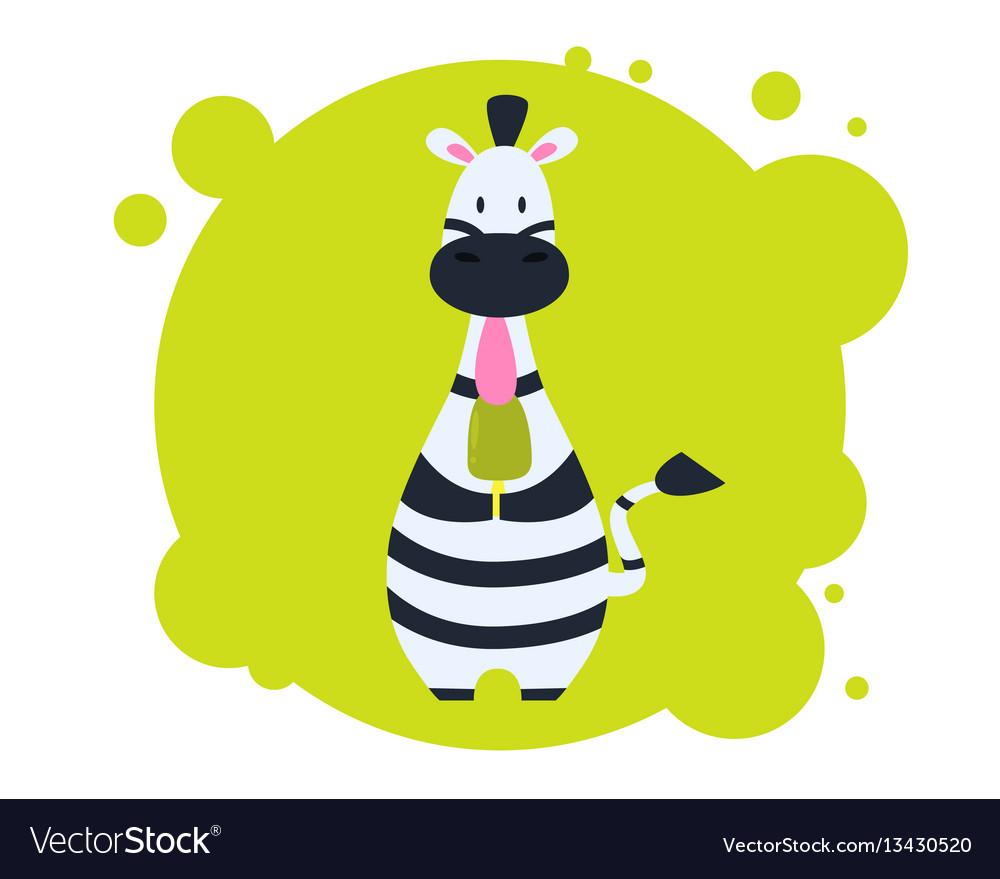Zebra eating ice cream