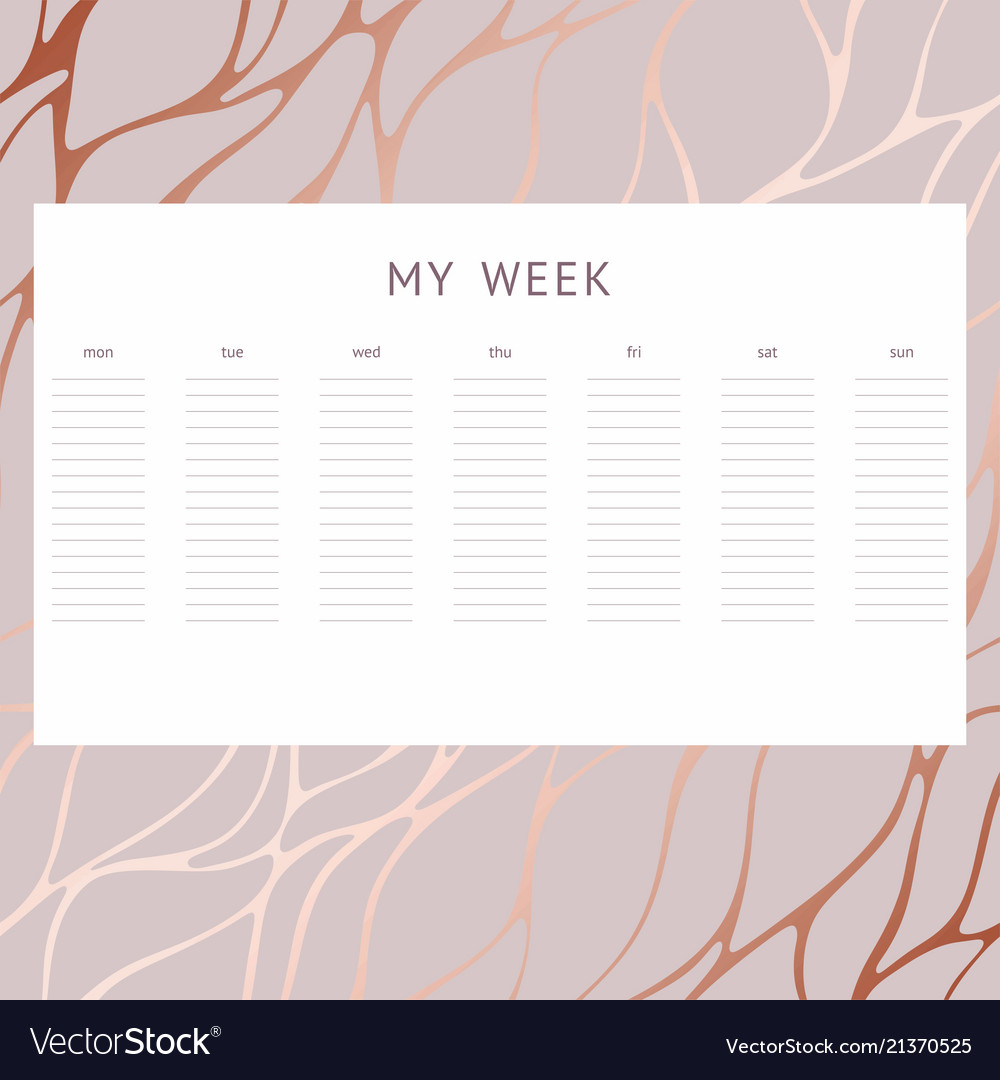 A week decorative background notes