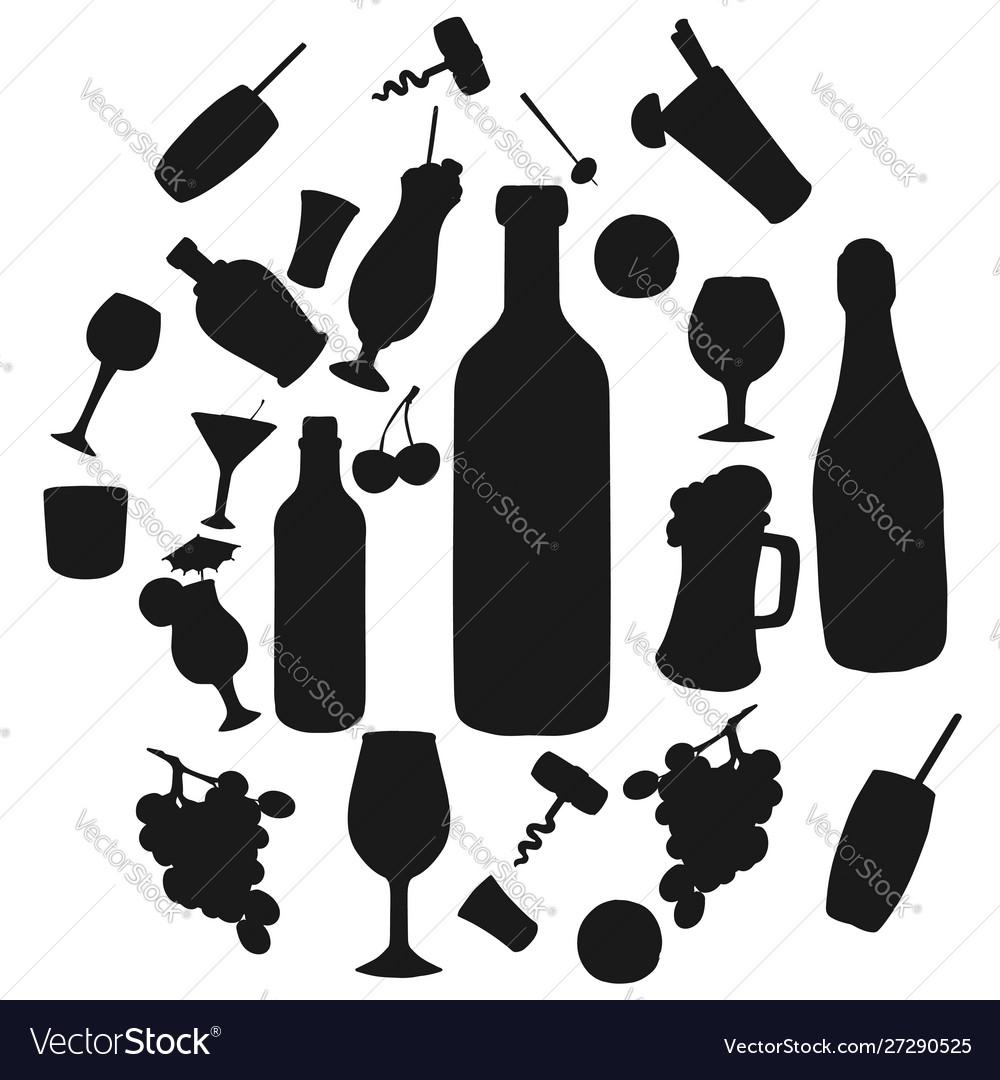 Alcohol drinks and cocktails bar beverages