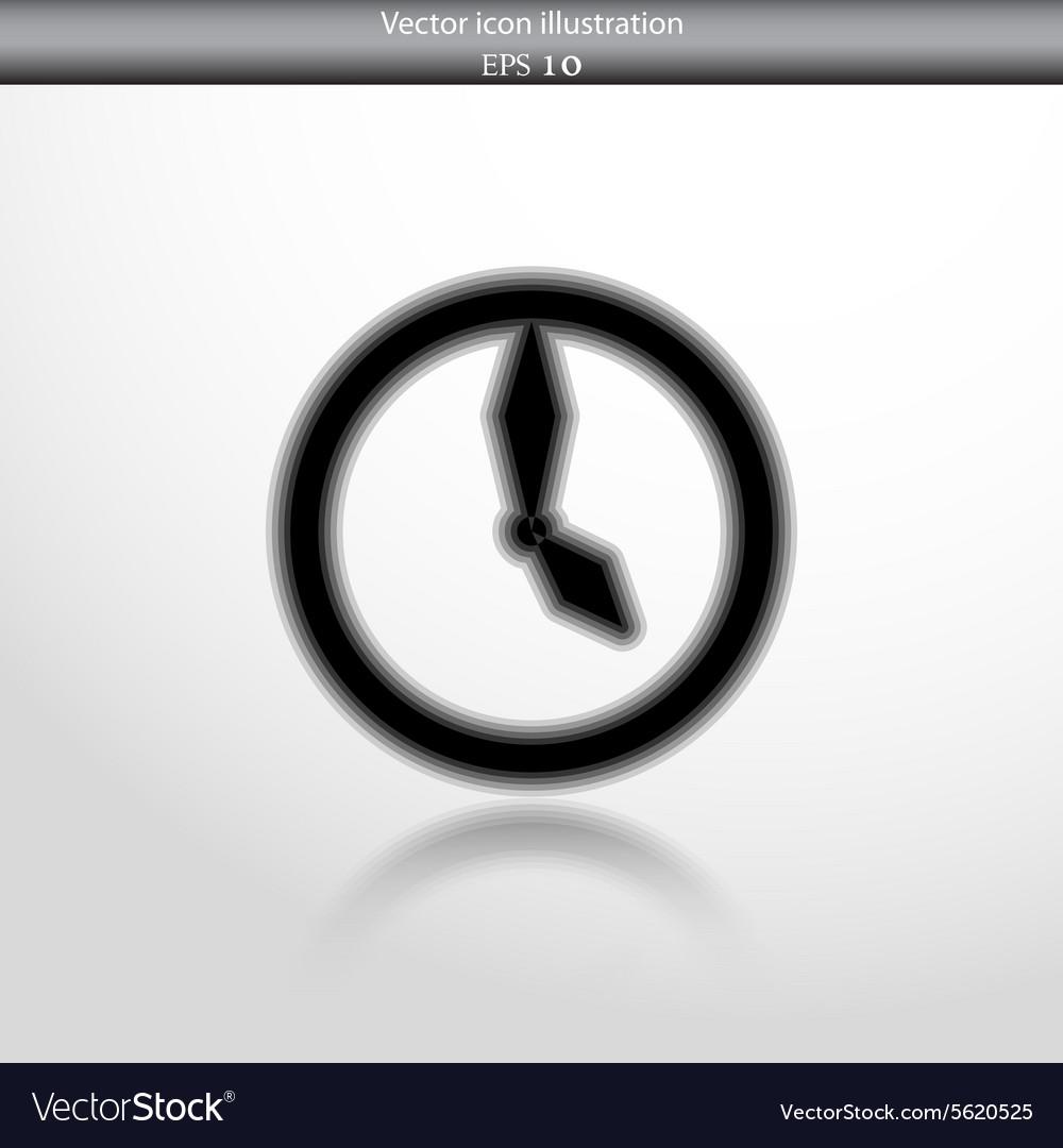 Clock web flat icon