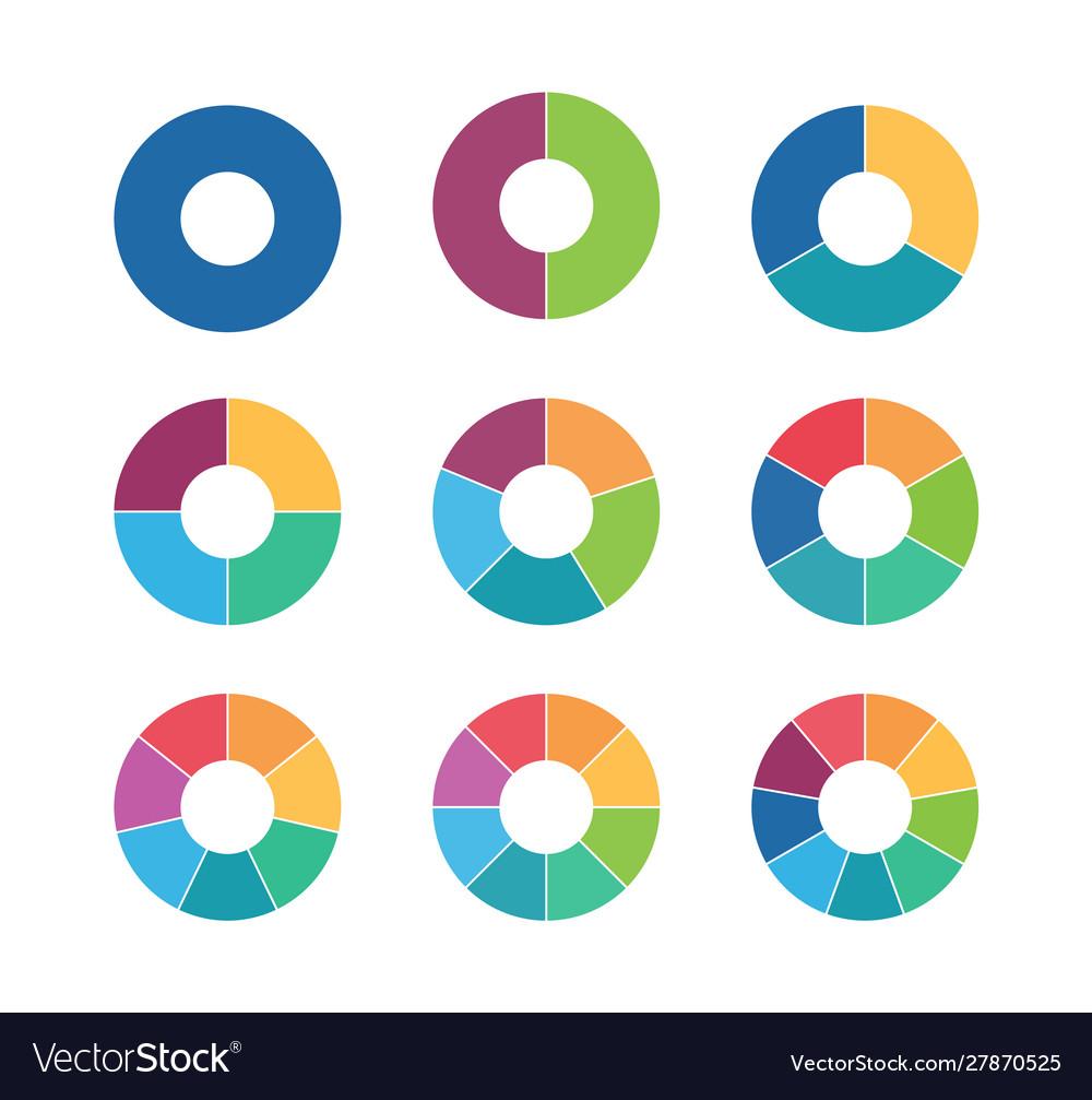 Segmented circles collection circular diagrams