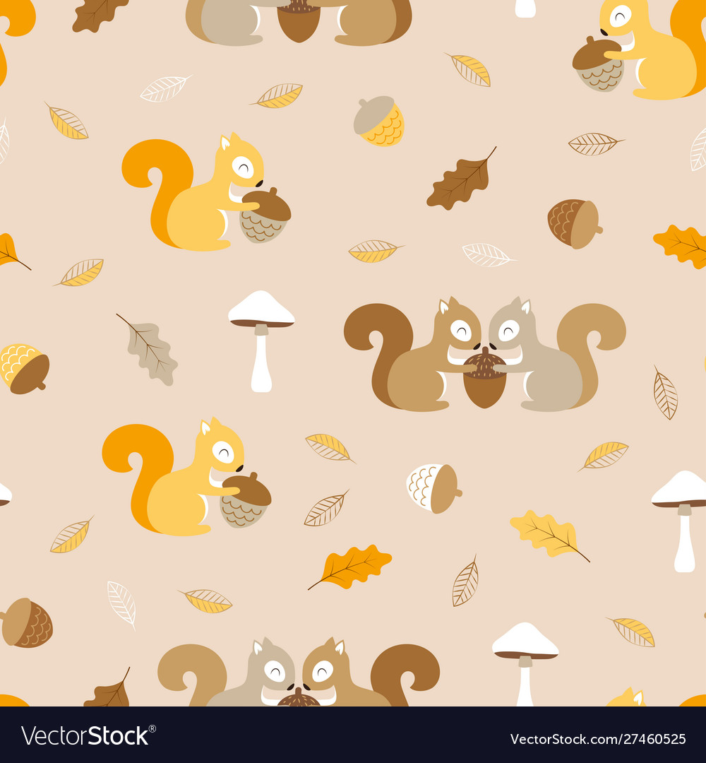 Simple pattern with squirrels