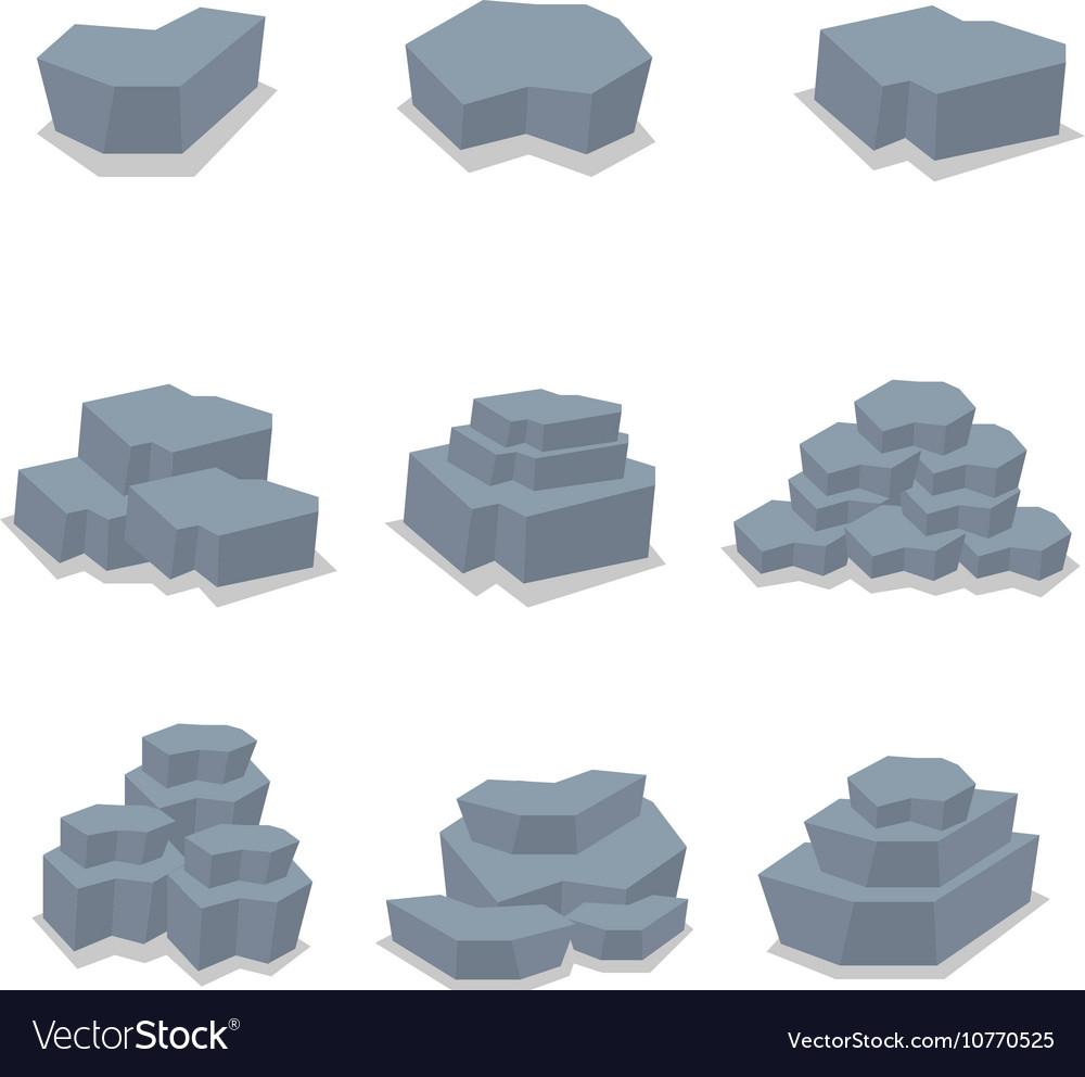 Stone of art vector image