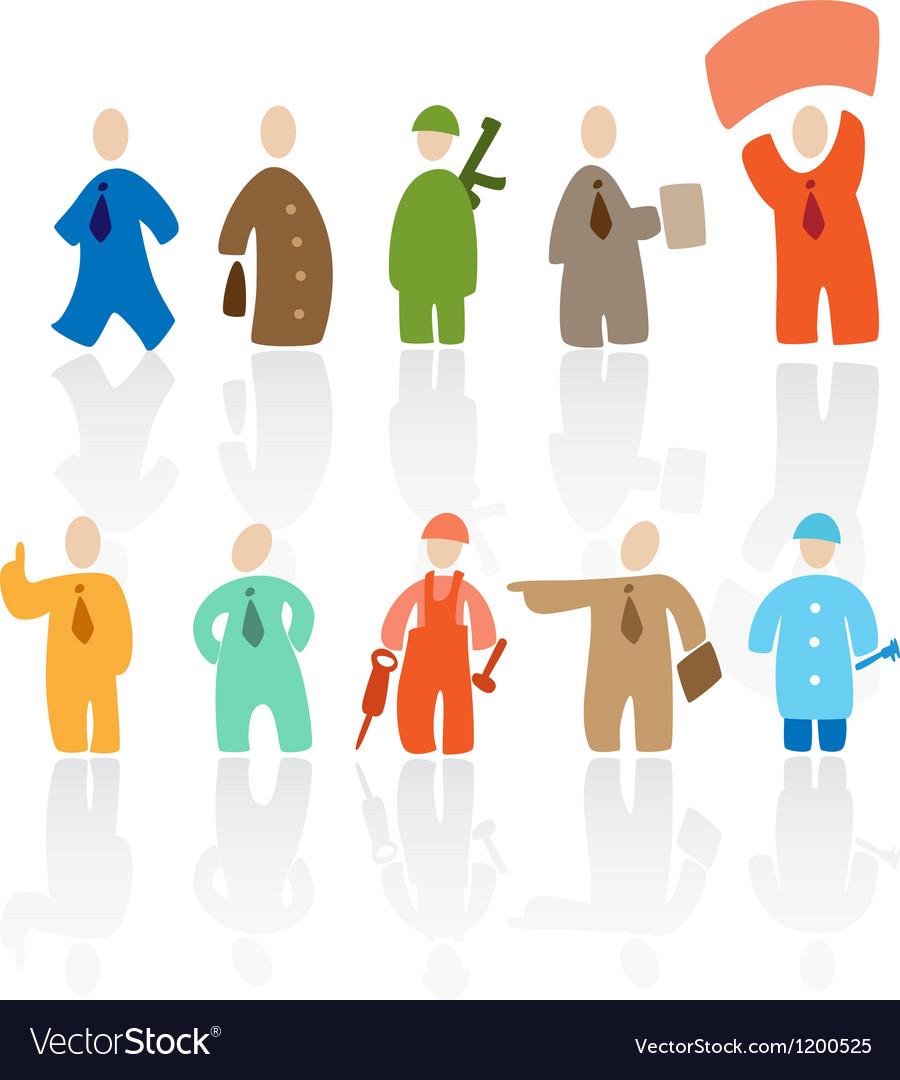 Toon people vector image