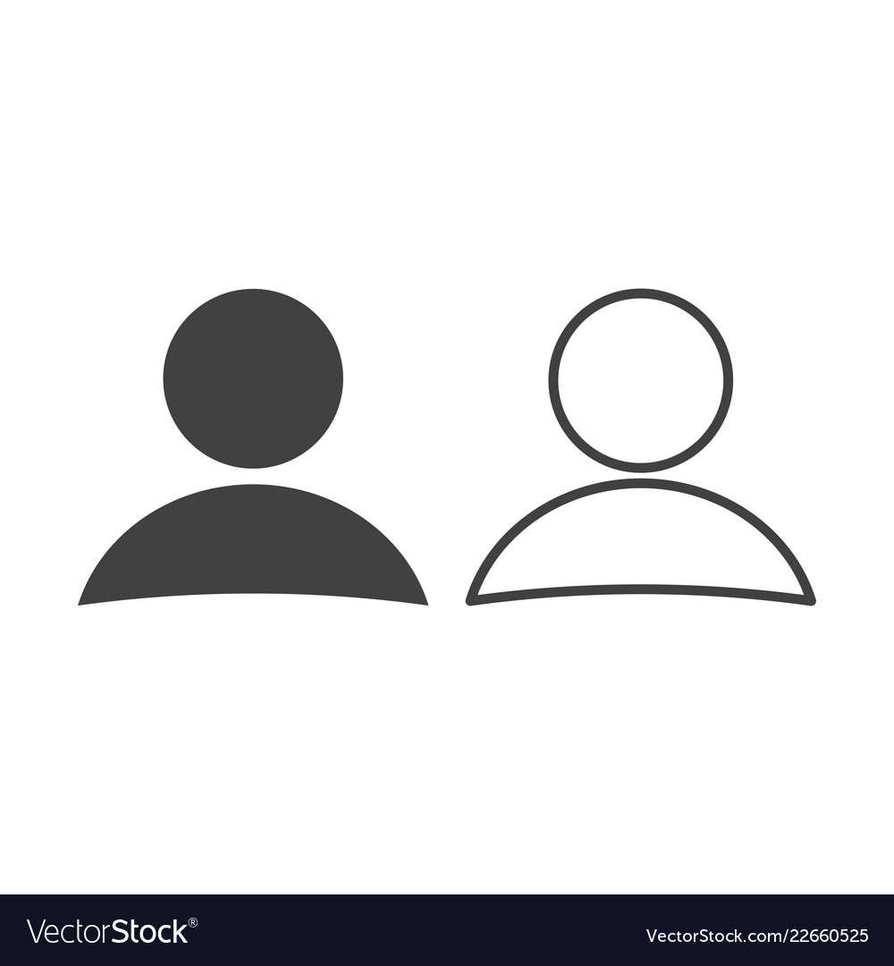 User icon in trendy flat style and linear design