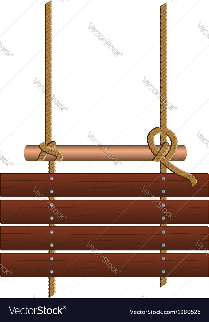 Wood Sign on a Rope vector image