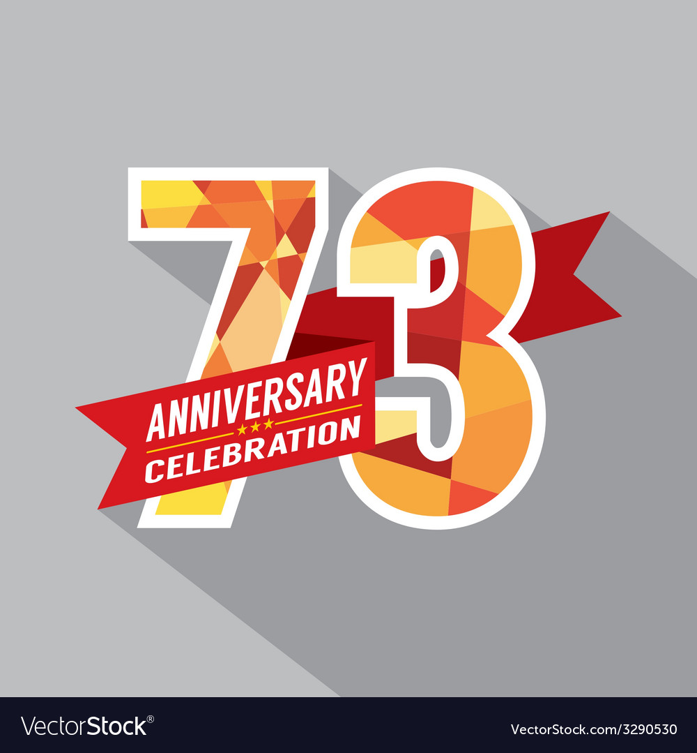 73rd Years Anniversary Celebration Design