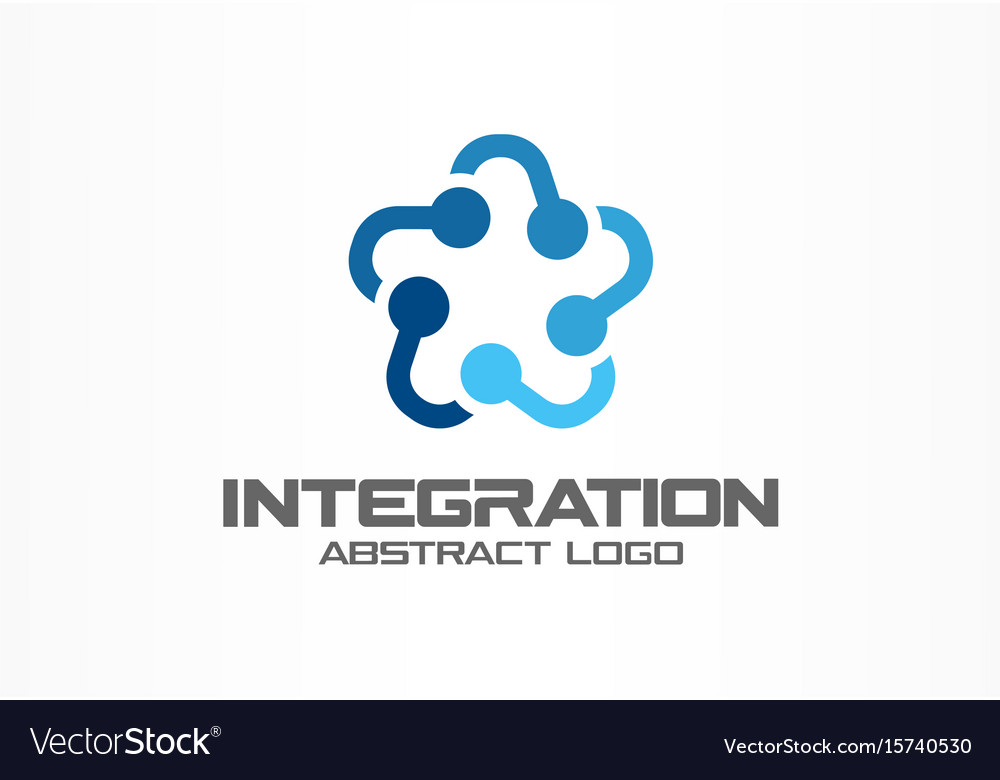 Abstract business company logo social media vector image