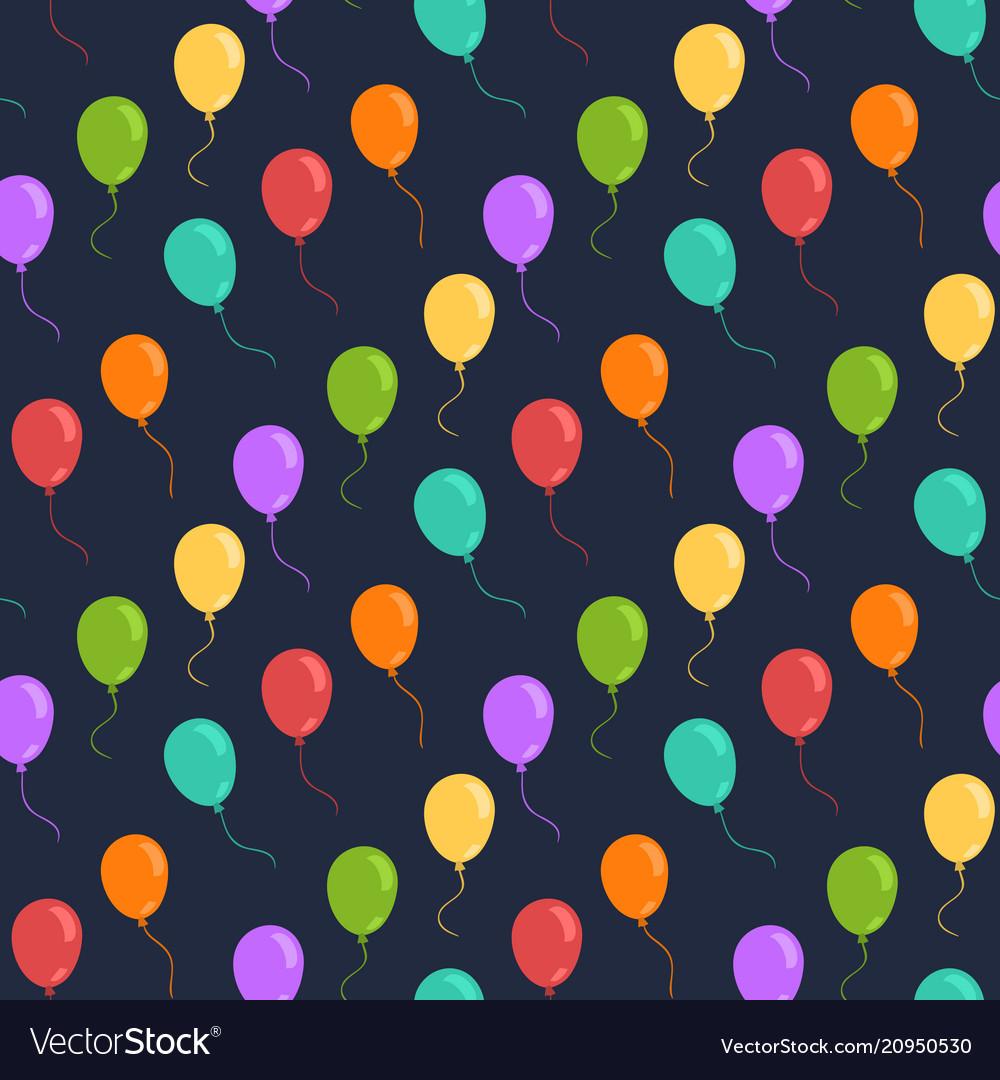Ballons seamless pattern