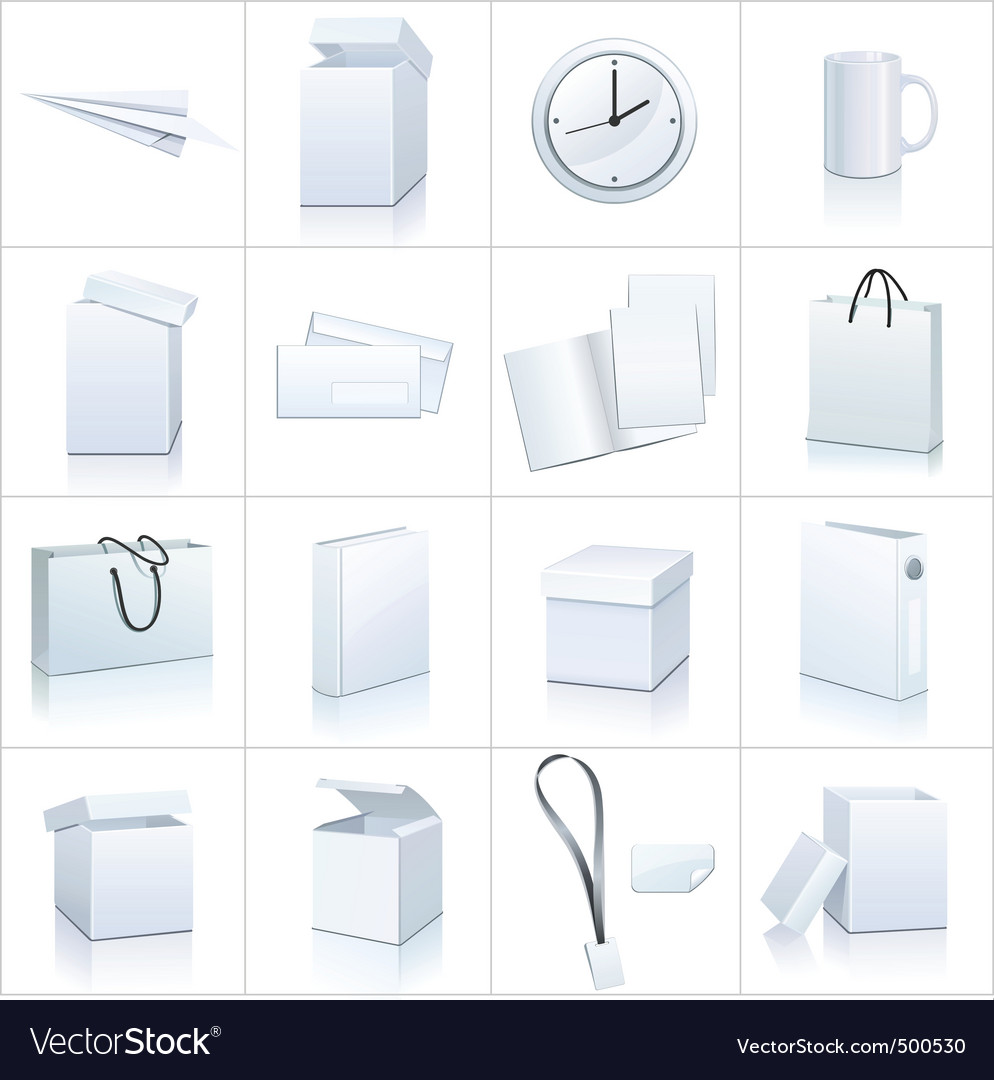 Blank objects vector image