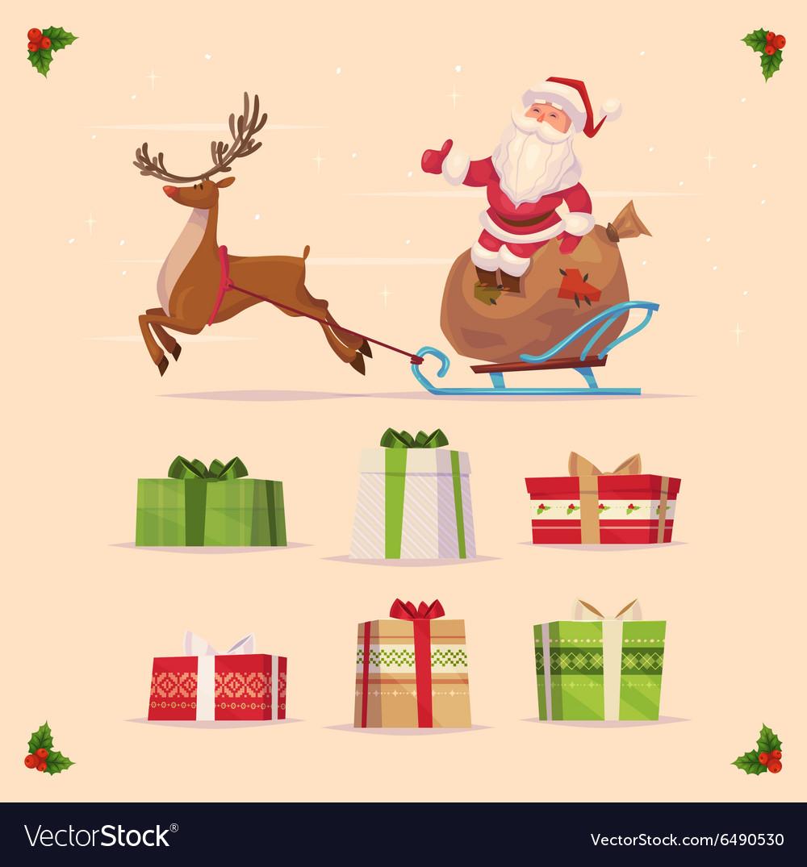 Gift set Christmas card poster banner