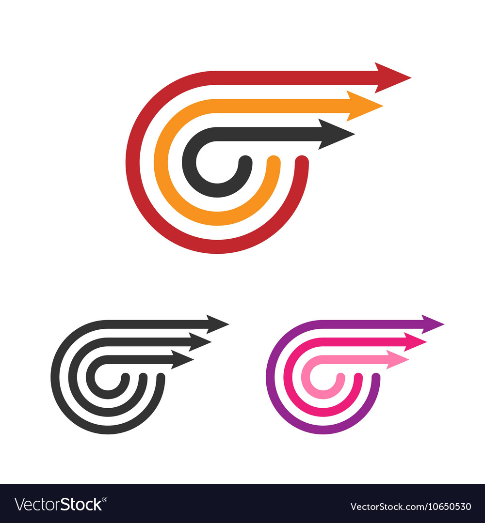 Logo template set three arrows line style