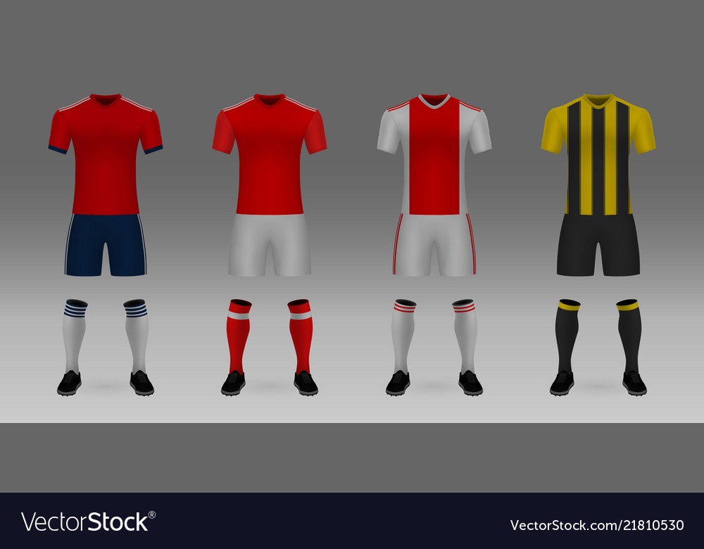 7cddd0345 Mockup of football team uniform Royalty Free Vector Image