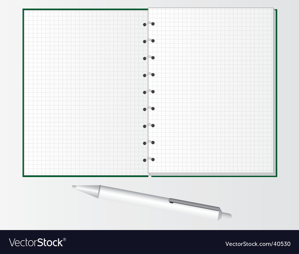 Pen And Notebook For Students Royalty Free Vector Image Ballpoint Diagram Notepad Stock Photos