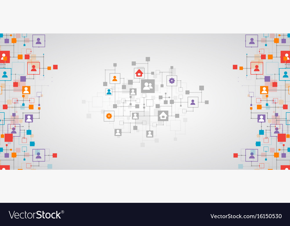 Social media background network concept