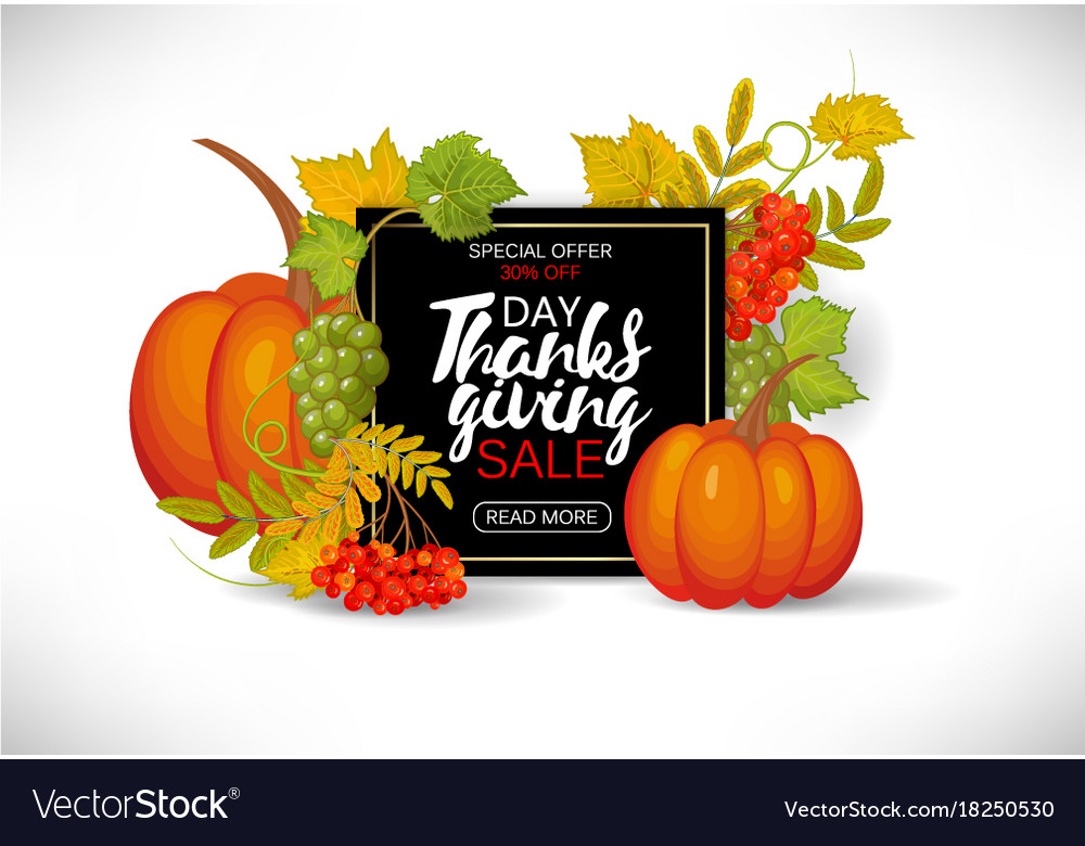 Thanksgiving day sale design sale banner with