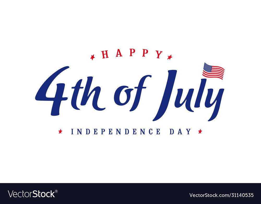 4th july independence day vintage banner
