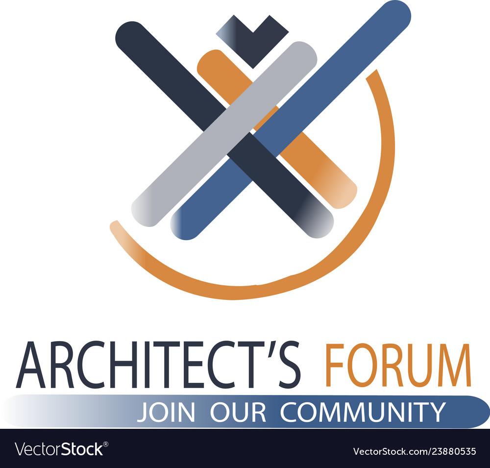 Architecture company logo vector image