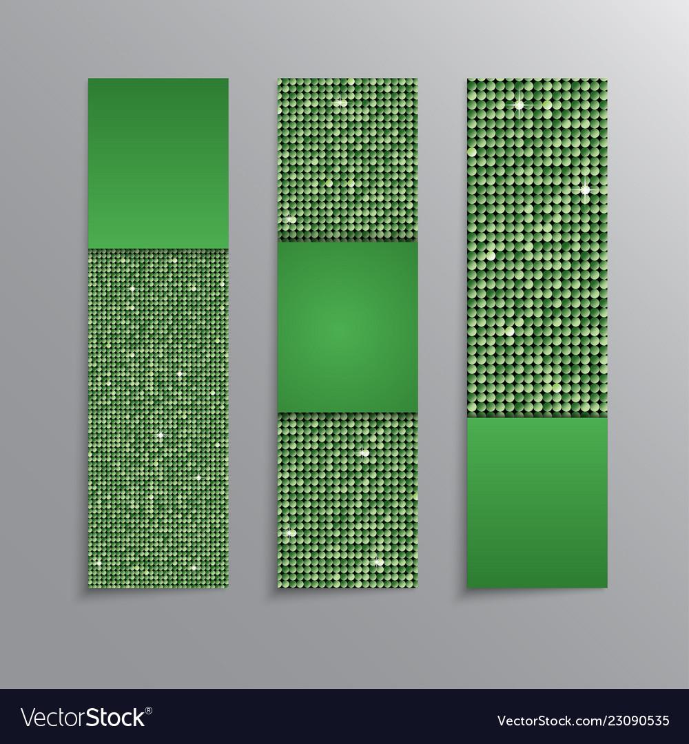 Banner sequins a booklet flyer vertical booklet