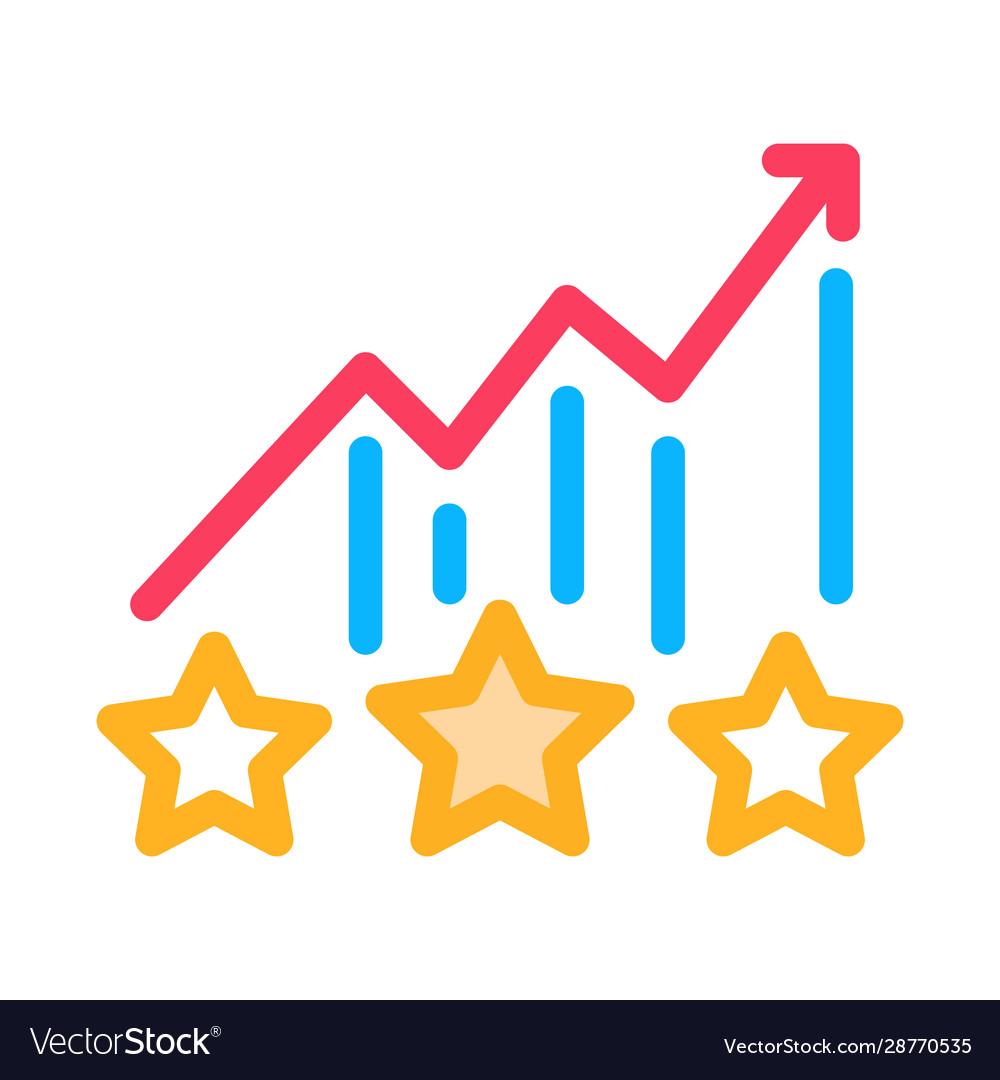 Bonus star statistics icon outline