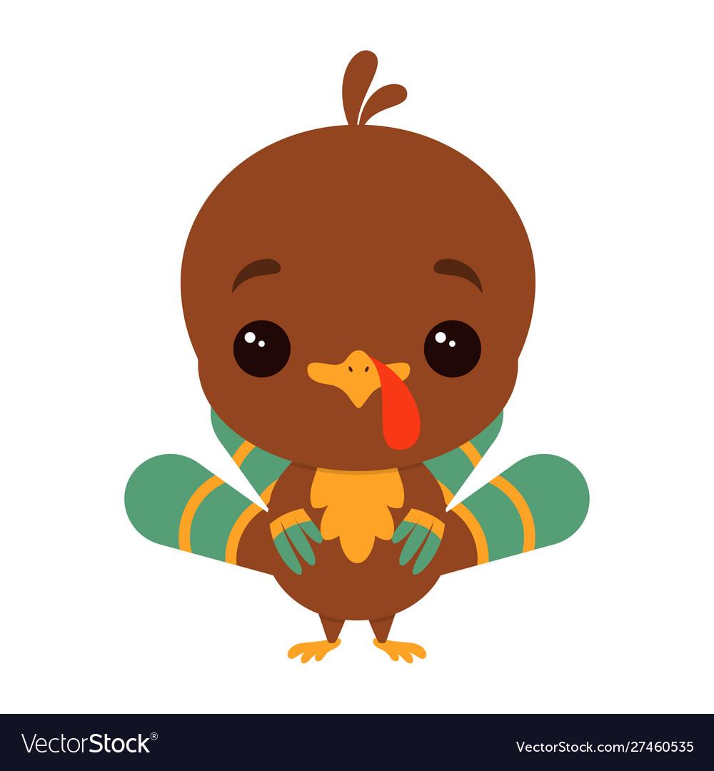 Cartoon funny turkey