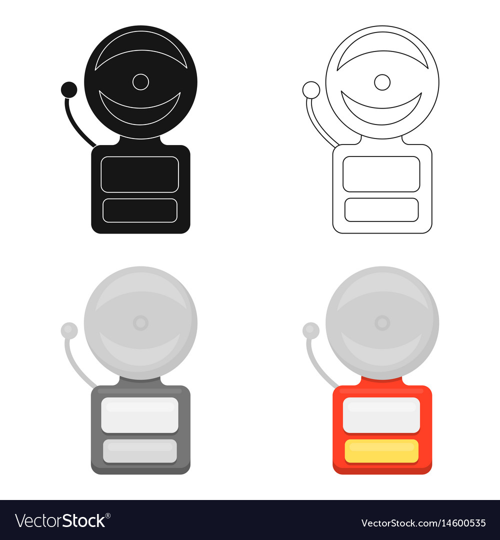 Fire alarm icon cartoon single silhouette fire vector image
