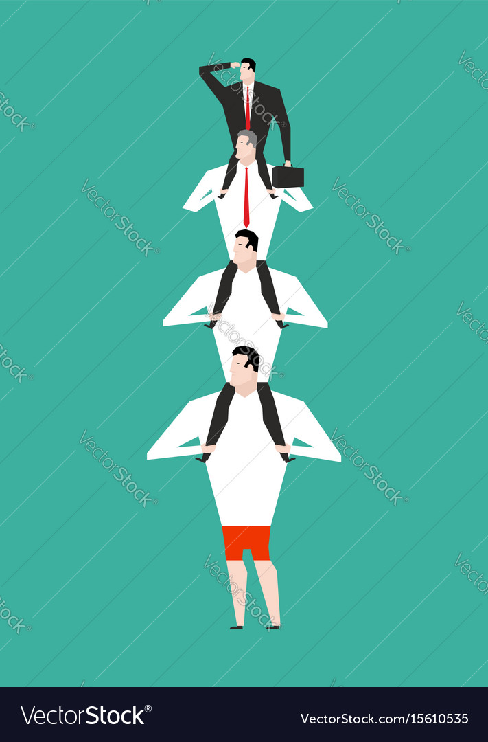 Office hierarchy business pyramid company vector image