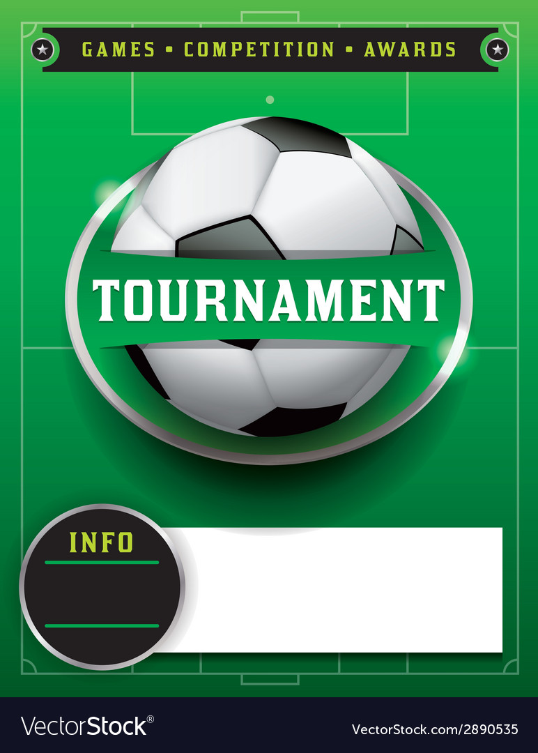 Soccer Tournament Template Royalty Free Vector Image