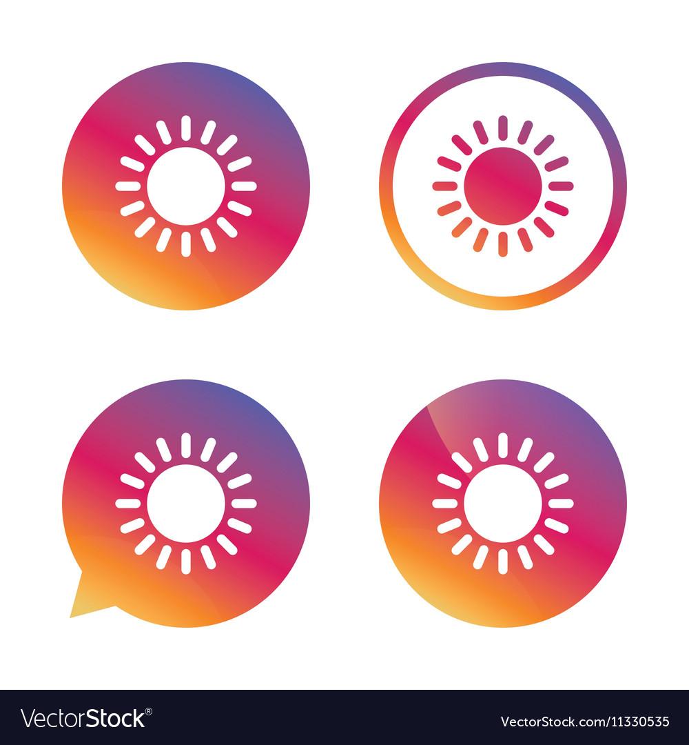 Sun icon Sunlight summer symbol