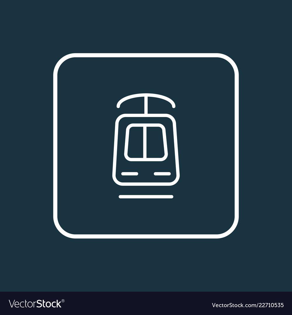 Tramway icon line symbol premium quality isolated