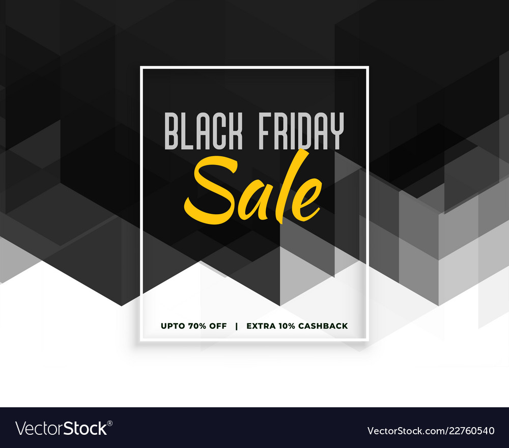 abstract black friday creative banner design vector image vectorstock