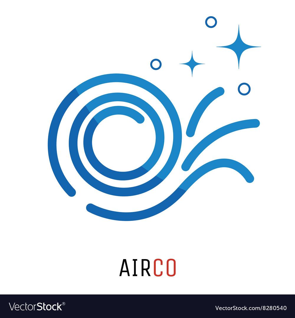 Air conditioning logo concept