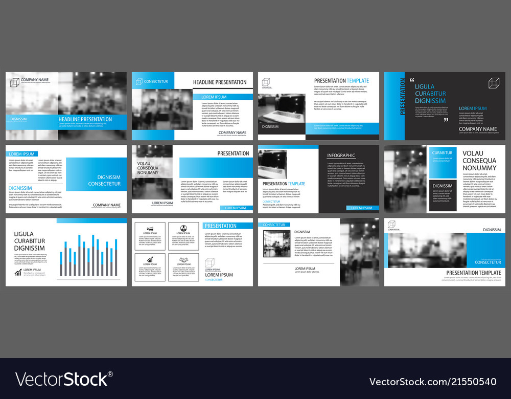 Blue and white element for slide infographic on