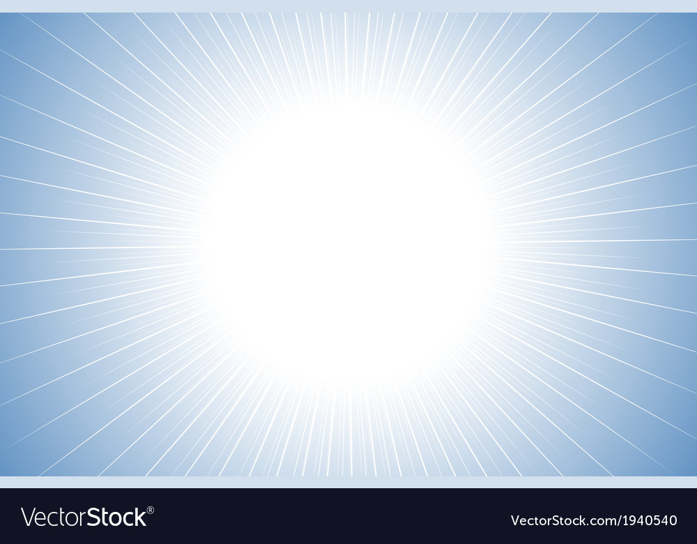 Blue clean sun burst background