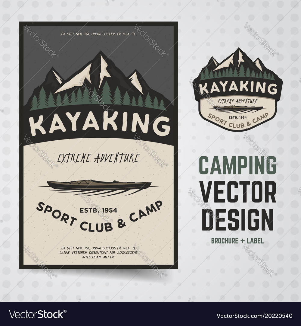 Camping adventure travel brochure and