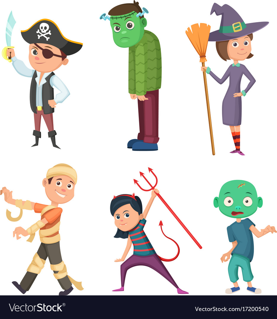 Cute and scary halloween cartoon costume for kids