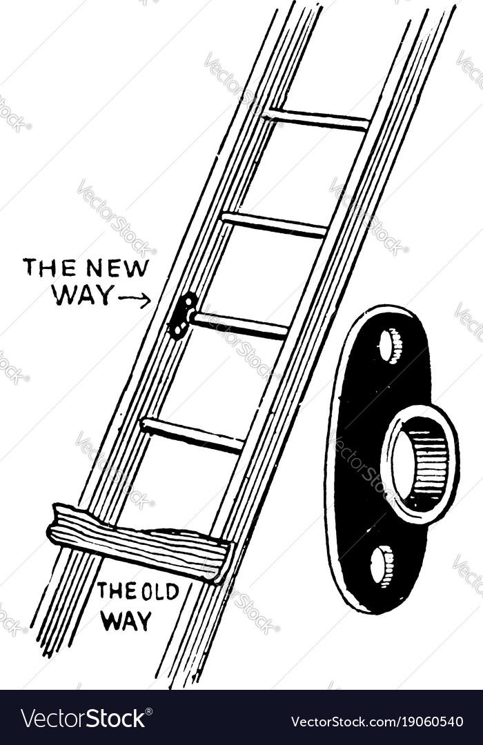 Ladder repair plate vintage