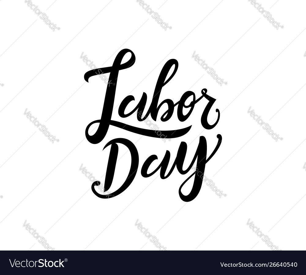 United states labor day celebrate card template
