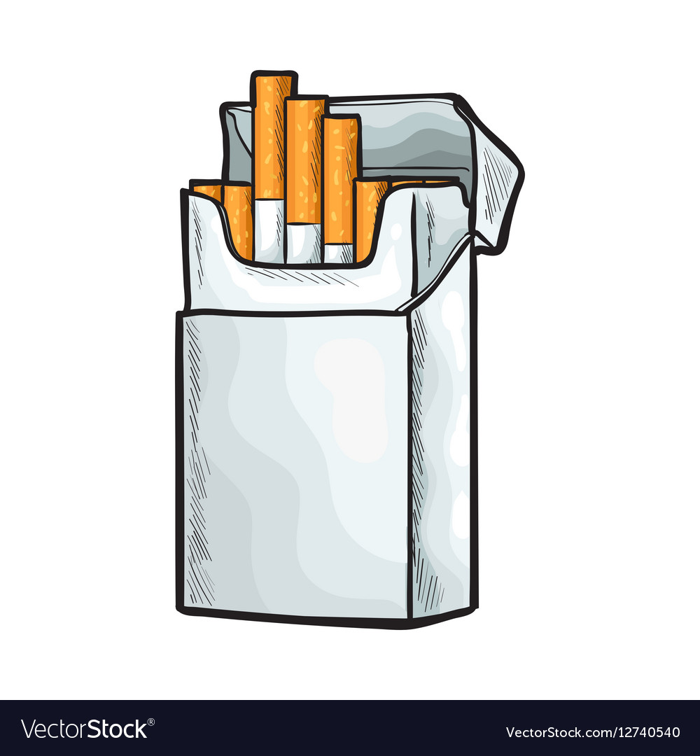 Пачка сигарет картинка нарисованная