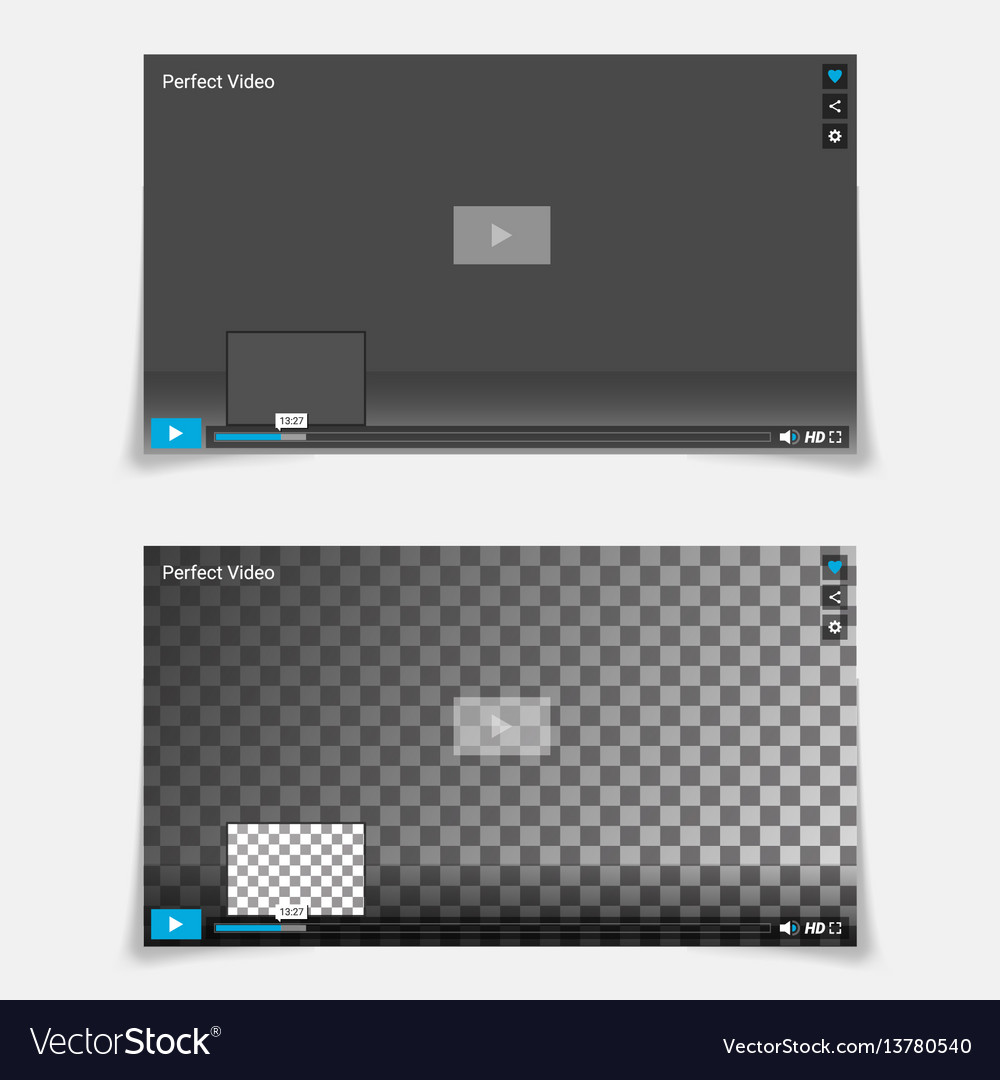Video player interface template trendy