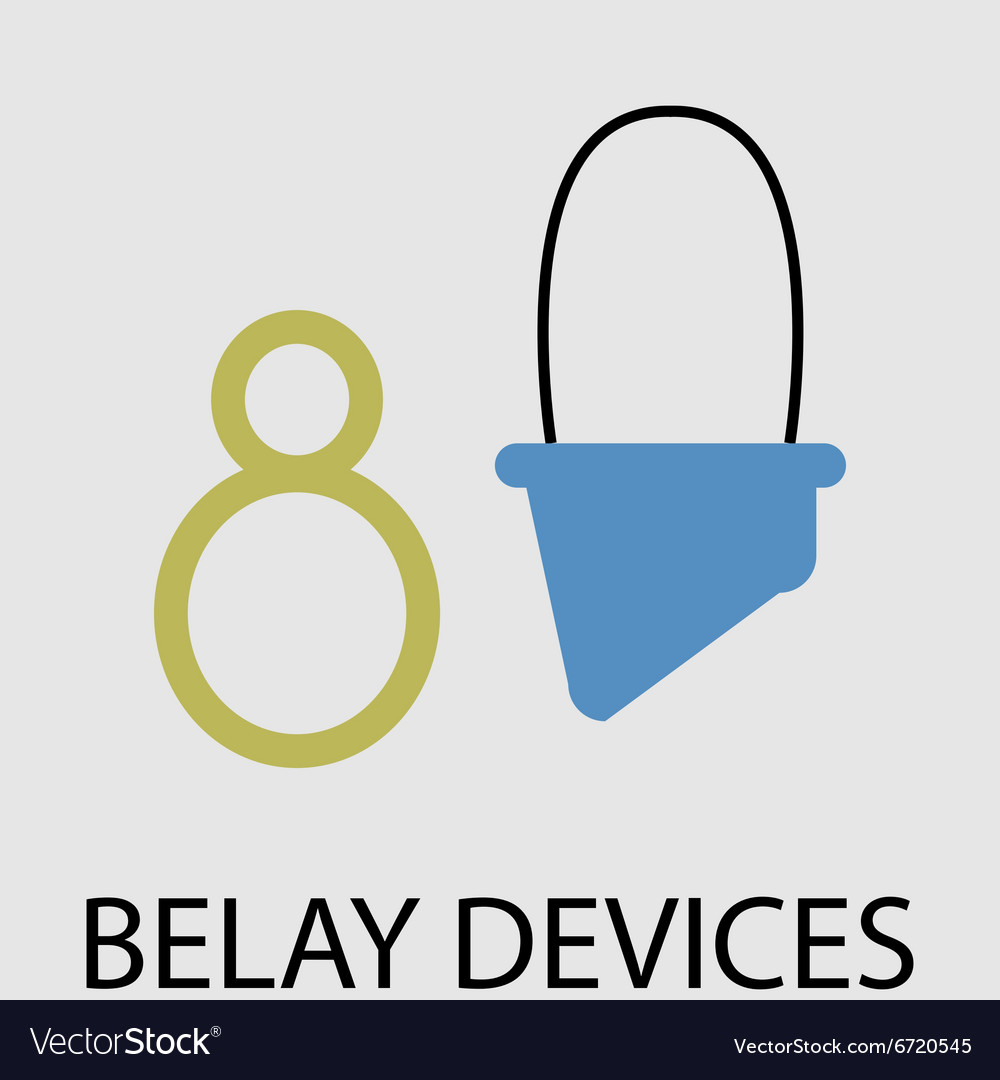 Belay devices icon flat design vector image