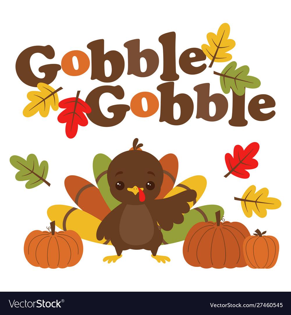 Cartoon turkey gobble