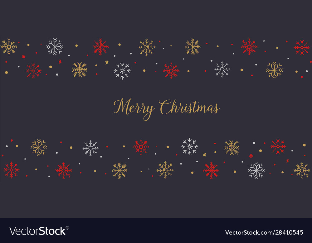 Christmas and happy new year greeting card