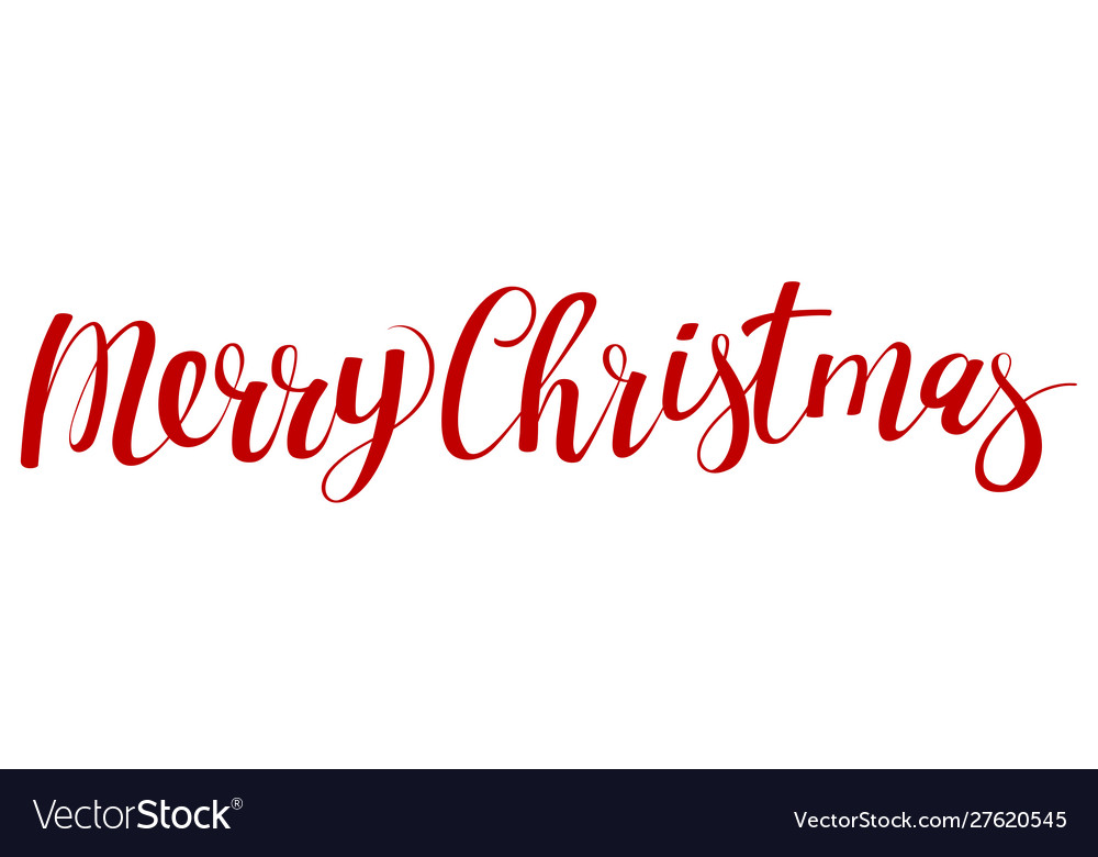 Christmas calligraphic lettering